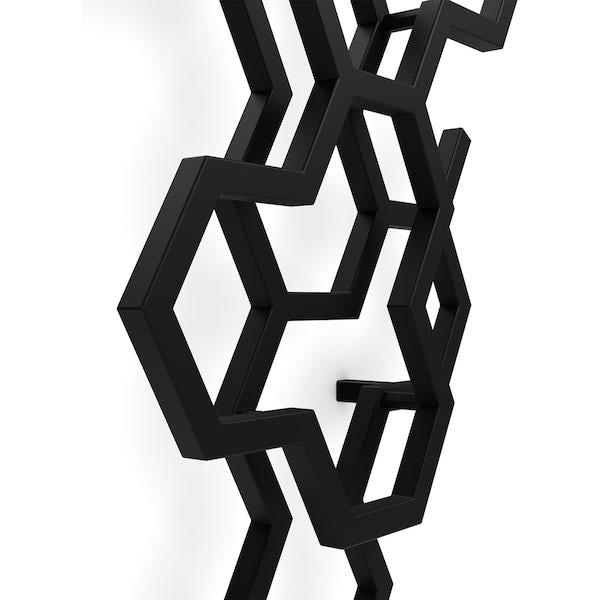 Terma Hex soft black designer radiator