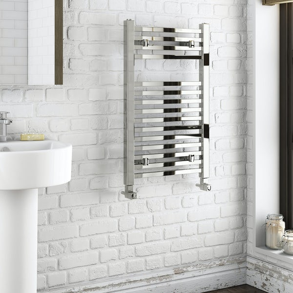Orchard Wye heated towel rail 800 x 490