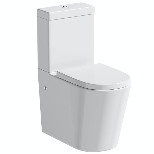Mode Orion rimless close coupled toilet with soft close seat