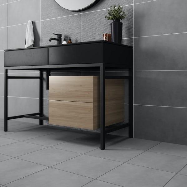 British Ceramic Tile Dune light slate matt floor tile 331mm x 331mm