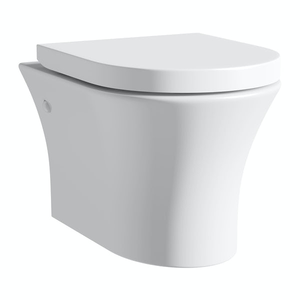 Hardy wall hung toilet inc soft close seat