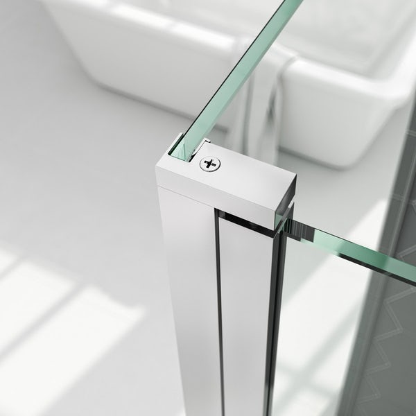 Mira Platinum walk in shower bundle with Mode 8mm easy clean glass