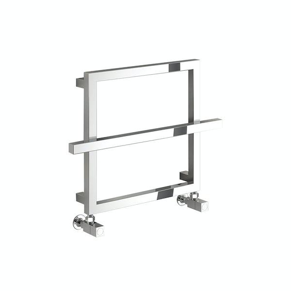 Reina Lago 1 chrome single bar steel designer radiator 450 x 600mm