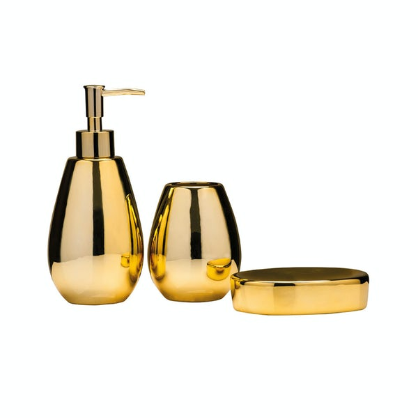 Magpie gold 3pc bathroom accessory set