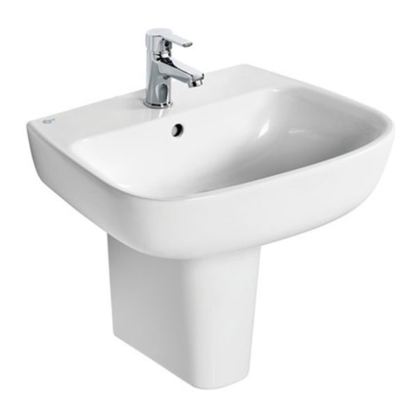 Ideal Standard Studio Echo 1 tap hole semi pedestal basin 550mm