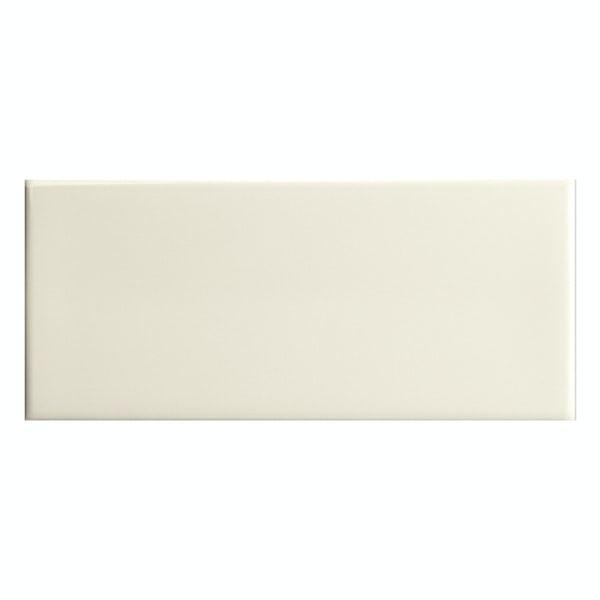 Bordeaux cream flat gloss wall tile 200mm x 457mm
