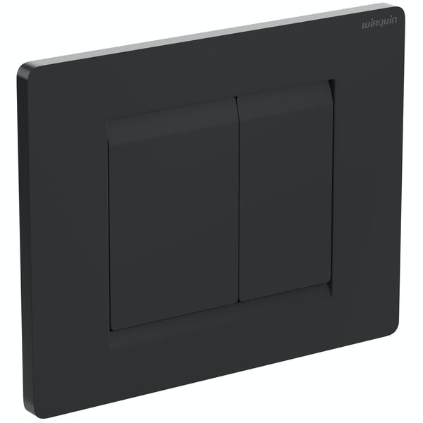 Macdee Wirquin universal wall hung toilet frame with black flush plate cistern