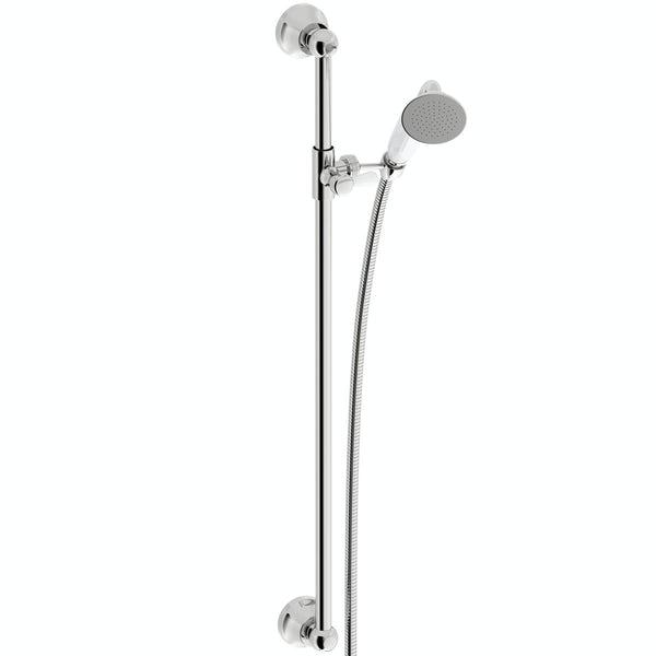 The Bath Co. Dulwich thermostatic shower valve with slider rail kit