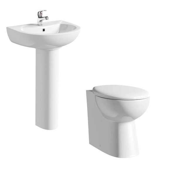 Clarity BTW Toilet and Basin Suite