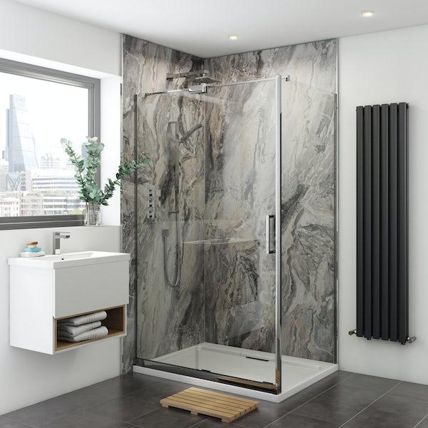 Multipanel Classic Cappuccino Stone Hydrolock shower wall panel ...