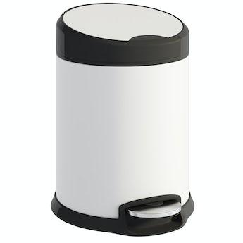 Accents Aero white 3lt pedal bin