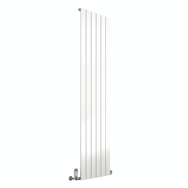 Reina Flat white vertical single panel steel designer radiator