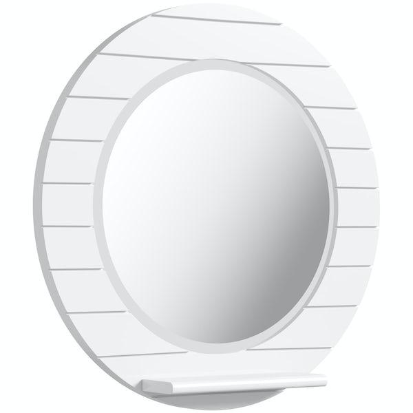 Innova Beachcomber white circle mirror