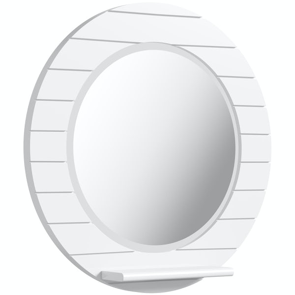 Innova Beachcomber white circle mirror