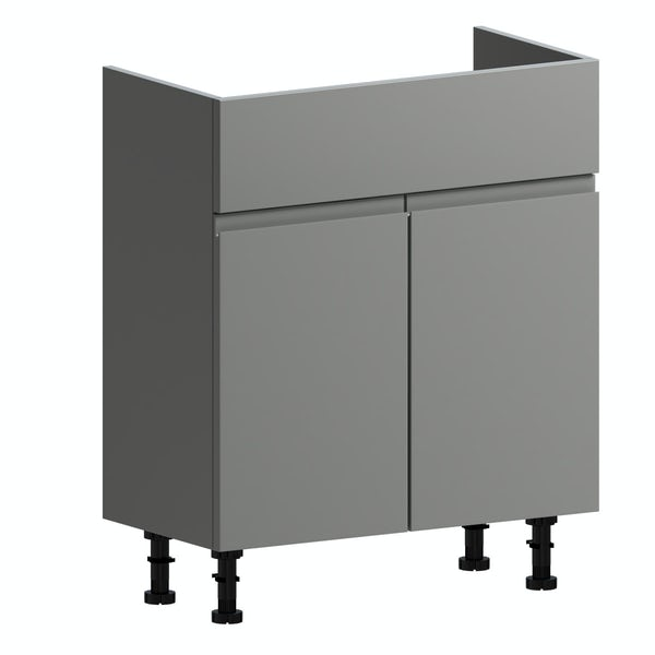 Orchard Wharfe slate grey floorstanding vanity unit 650mm