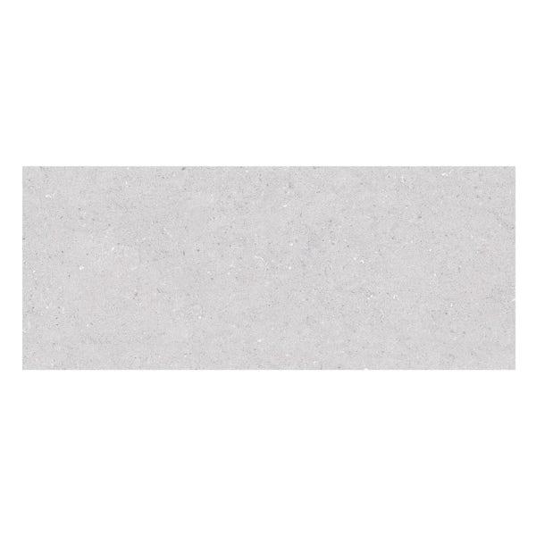 Rocha grey flat stone effect gloss wall tile 250mm x 600mm