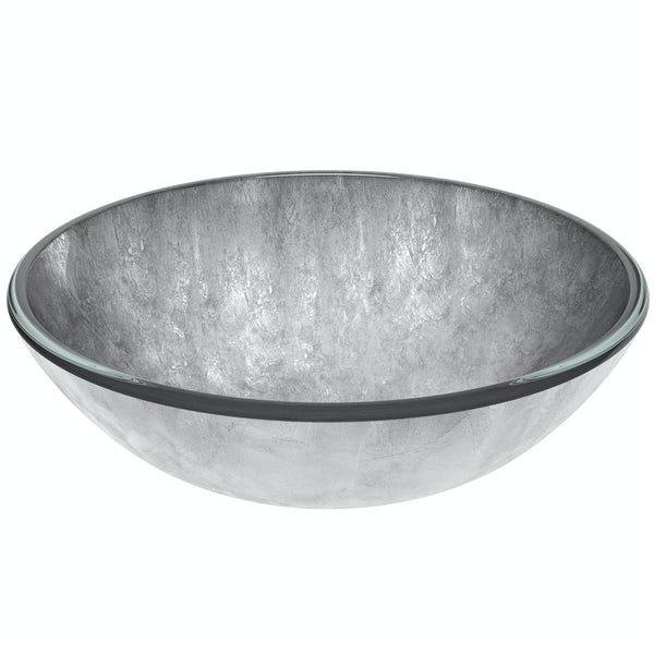 Mode Mackintosh silver foil glass countertop basin