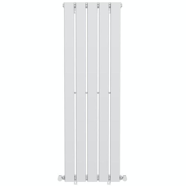 The Heating Co. Tate flat vertical radiator chrome