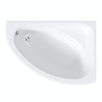 Orchard Elsdon right handed corner bath with acrylic panel 1060 x 1500