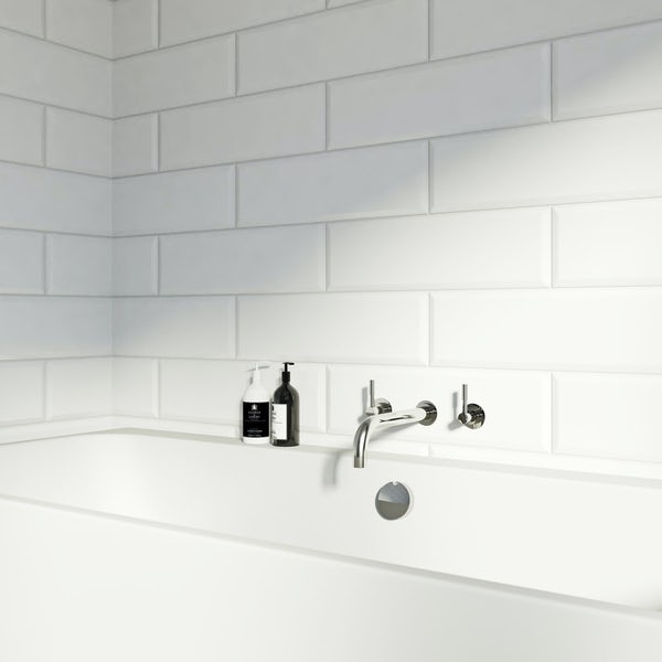 V&A Maxi Metro white gloss tile 148mm x 498mm