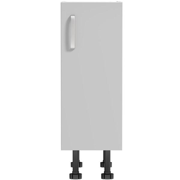 Schon Boston light grey slab base unit