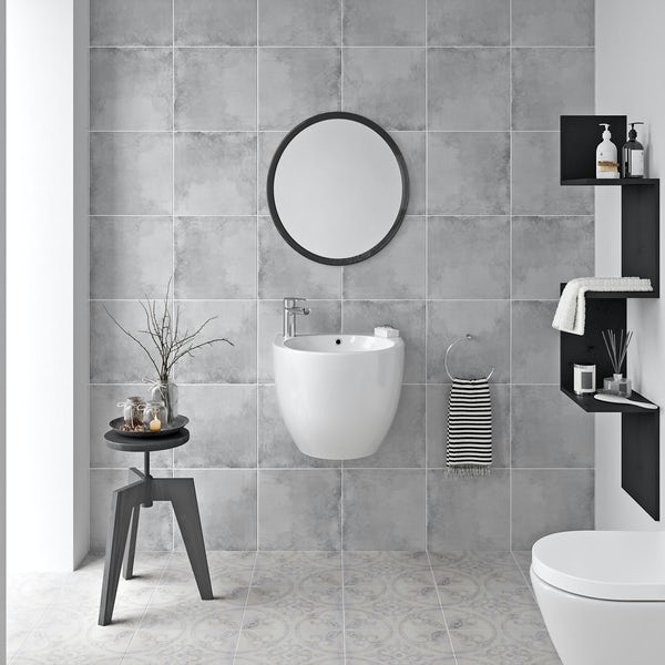 Ted Baker VersaTile matt mid grey wall and floor tile 331mm x 331mm