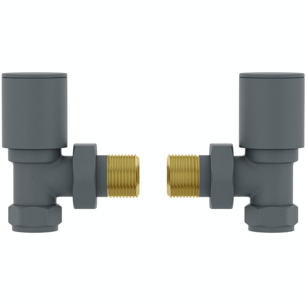Orchard angled anthracite radiator valve