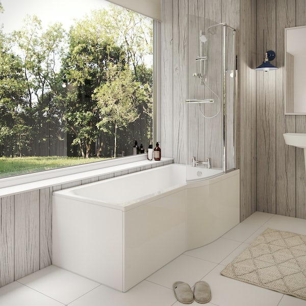 Ideal Standard Concept Air right hand Idealform Plus bath, screen and front panel
