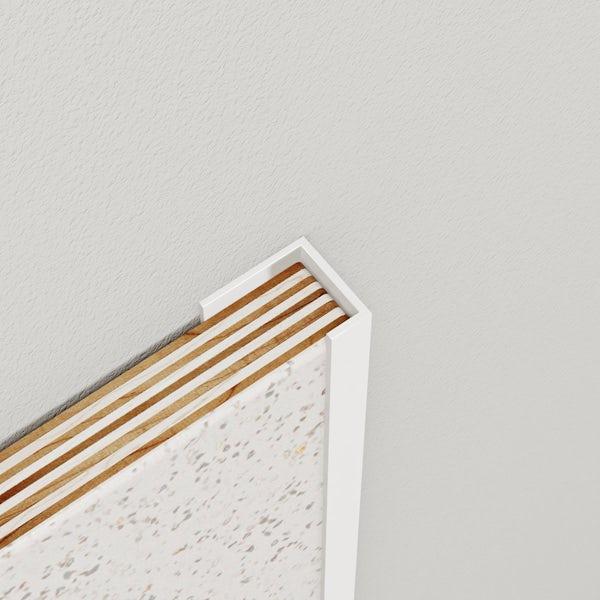 Multipanel Classic white kit for corner installation