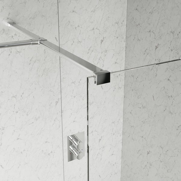 Mode 8mm wet room glass panel enclosure pack