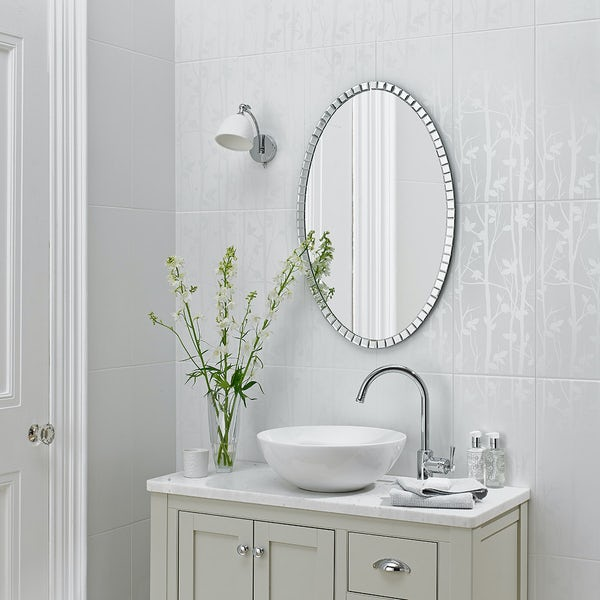 Laura Ashley White Cottonwood Feature Satin Wall Tile
