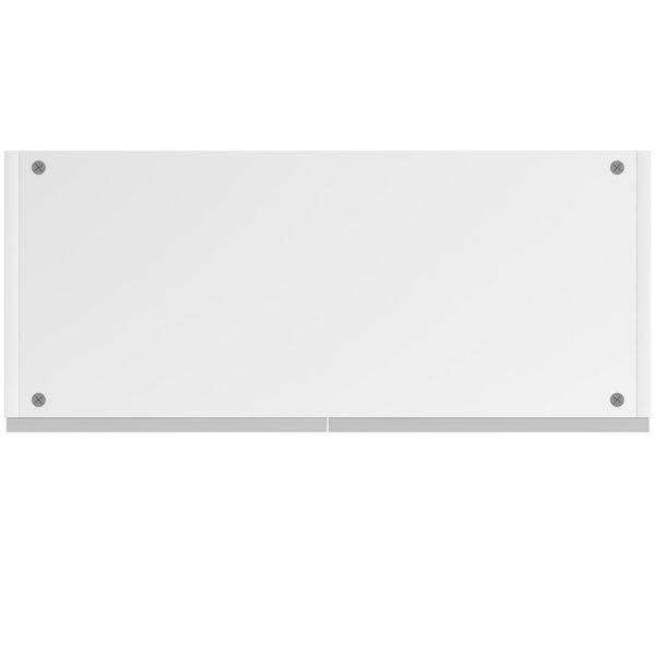 Schon Chicago light grey slab double wall unit