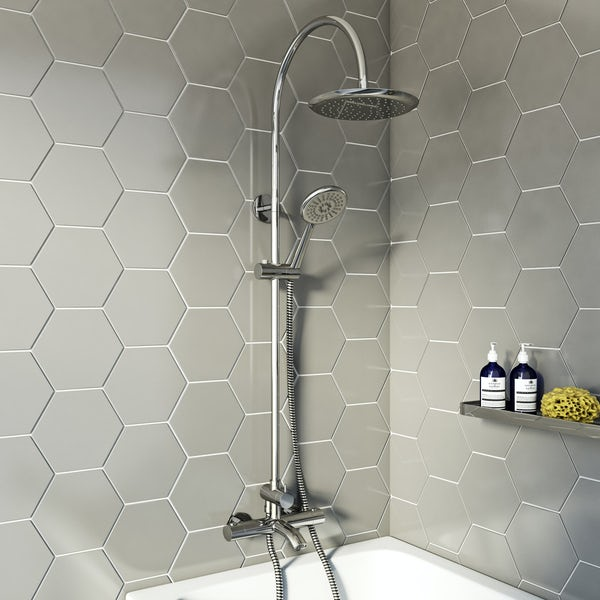 Orchard Phaze shower bath filler and shower riser rail system