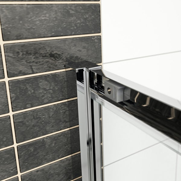 Mode Hardy 8mm easy clean quadrant shower enclosure and stone shower tray