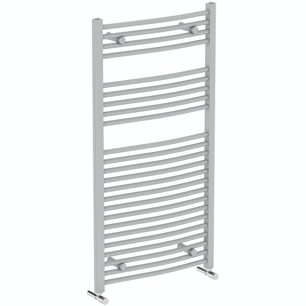 Orchard Elsdon stone grey heated towel rail 1150 x 600