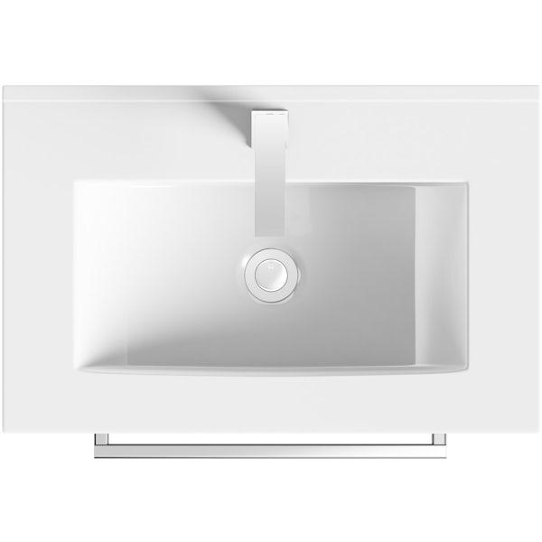 Orchard Derwent stone grey vanity drawer unit and basin 600mm