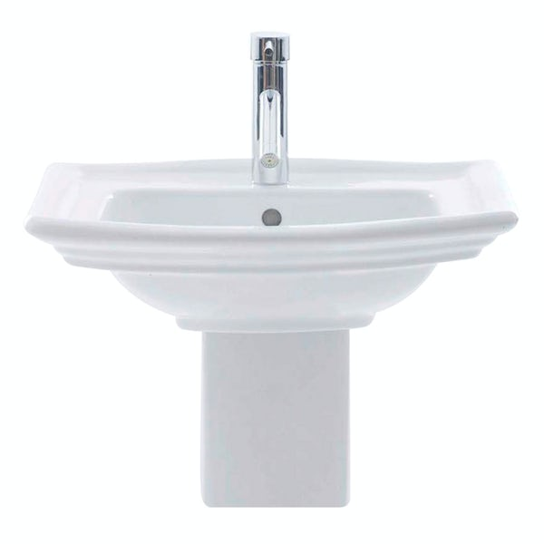 RAK Washington 1 tap hole semi pedestal basin 650mm