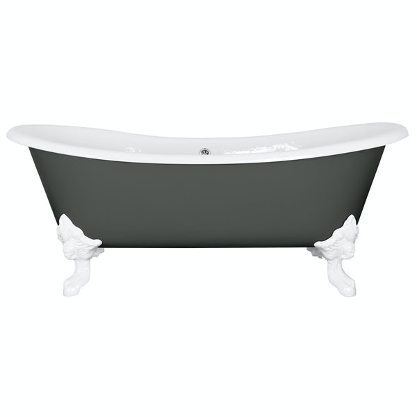 The Bath Co. Dover smoke grey cast iron bath
