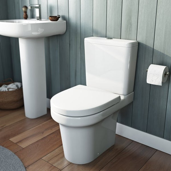 Mode Burton bathroom suite with right handed L shaped shower bath 1700 x 850