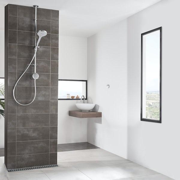 Aqualisa Unity Q Smart exposed shower standard with adjustable handset