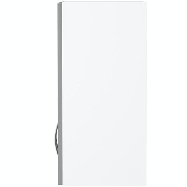 Schön New England light grey double door shaker wall unit