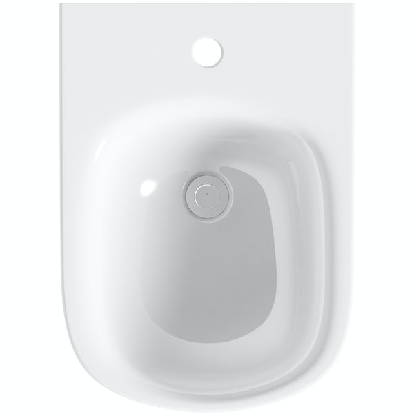 The Bath Co. Beaumont wall hung bidet with fixings with wall mounting bidet frame