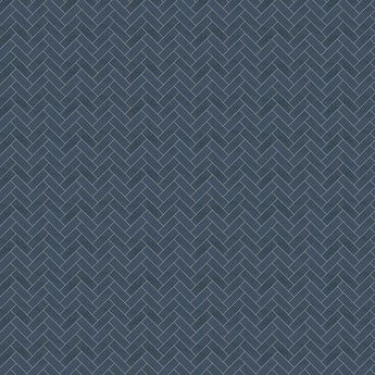Showerwall Custom Navy Herringbone acrylic shower wall panel