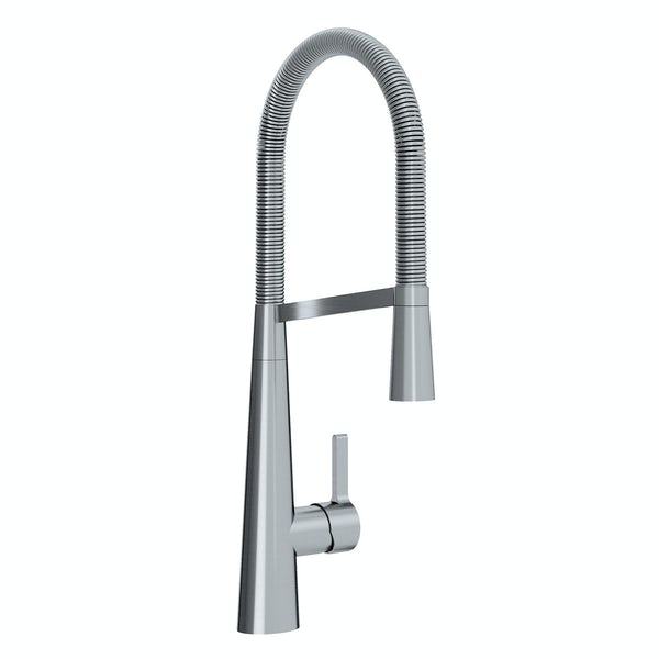 Bristan Saffron brushed nickel single lever kitchen mixer tap with pull down spout