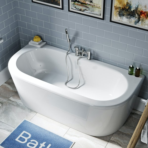 Orchard Elsdon D shaped double ended bath 1700 x 750