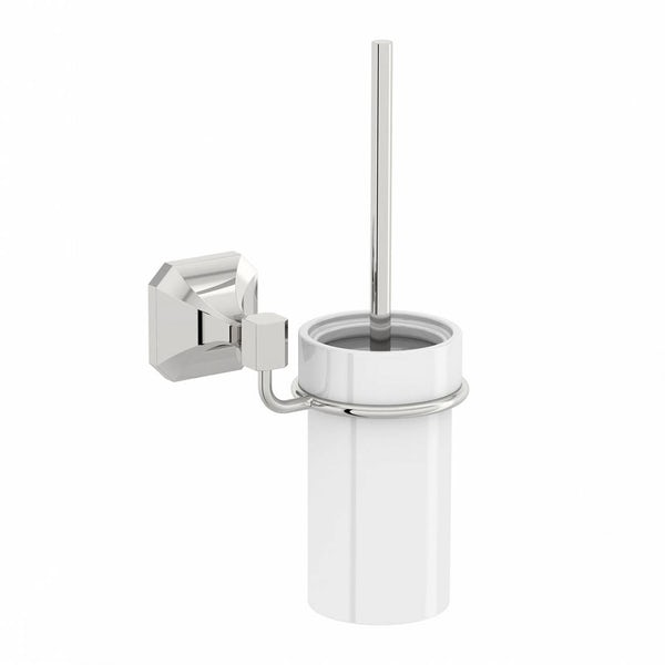 Camberley Toilet Brush & Ceramic Holder