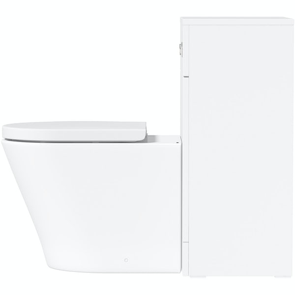 Orchard Elsdon white back to wall unit and contemporary toilet with soft close seat