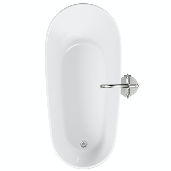 Mode Hardy freestanding bath & tap pack with Tate bath filler