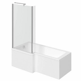 Orchard L shaped left handed shower bath 1700mm with 6mm shower screen