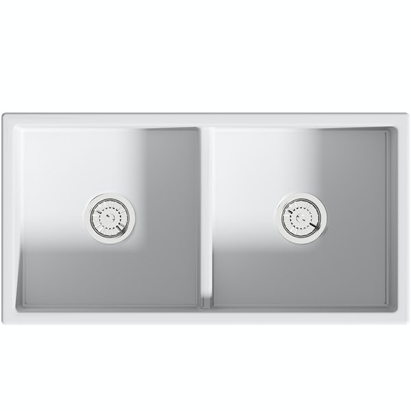 Schön Ribbleton double ceramic sink